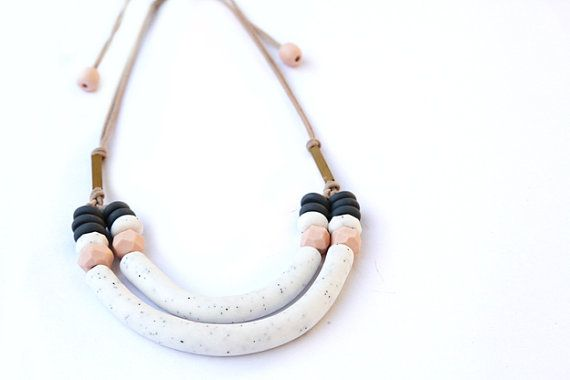 stone loop necklace by Kingston Jewellery