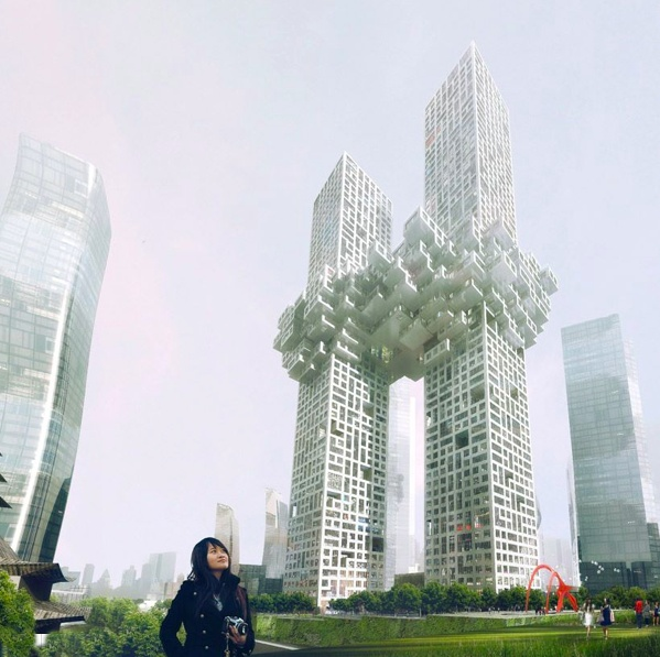 Dutch architects MVRDV have designed two skyscrapers for Seoul,