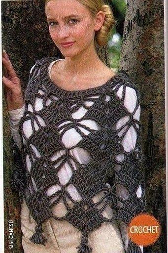 free+crochet+knit+patterns+poncho.jpg (341×512)