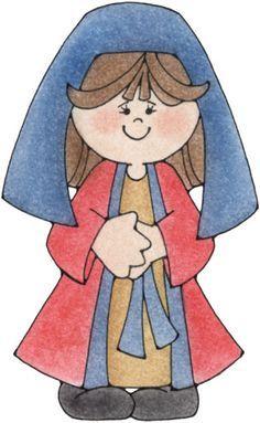 BAÚL DE NAVIDAD: Belén infantil recortable de 16 figuras navideñas