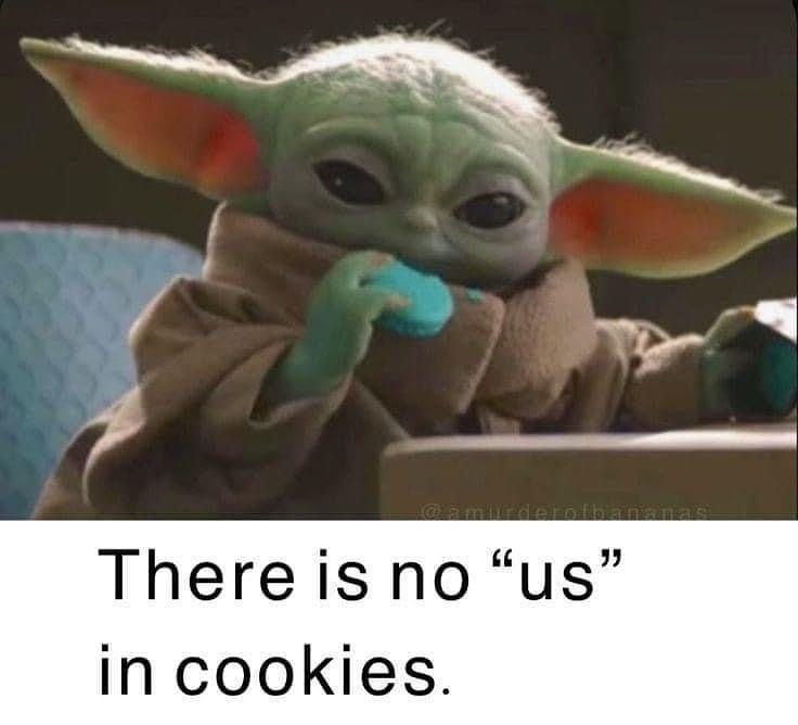Baby Yoda On Instagram Follow Us To Make Baby Yoda Happy Babyyodamemepag3 Credit To Ignore The Ta In 2021 Yoda Funny Star Wars Jokes Star Wars Memes