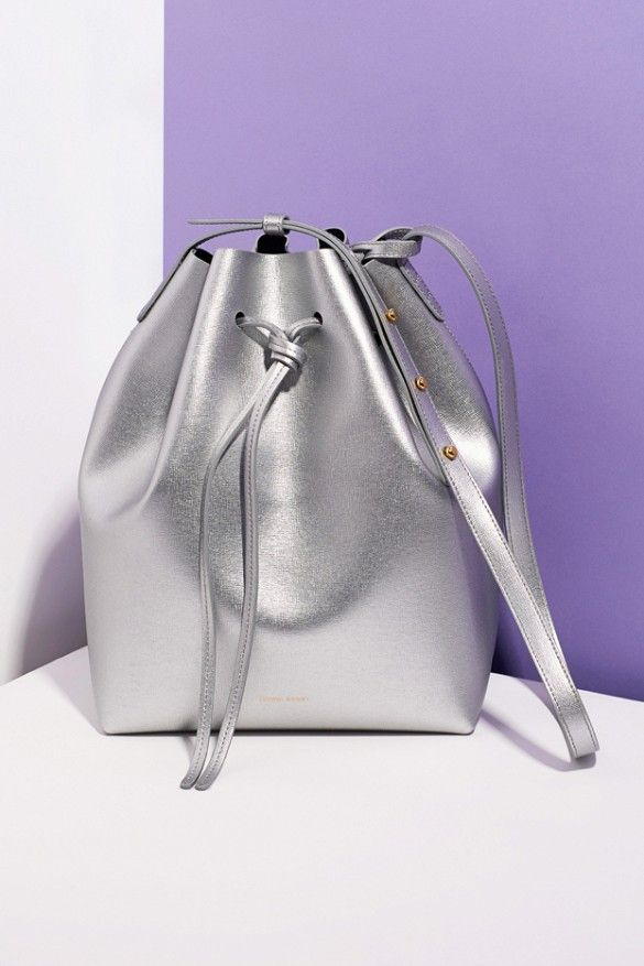 The iconic It-bag gets a shiny metallic makeover // Mansur Gavriel for Opening Ceremony Bucket Bag