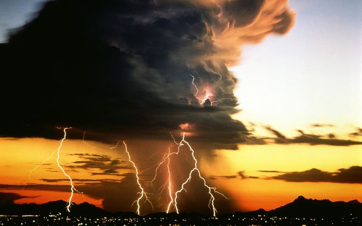 The clouds poured out water: the skies sent out a sound: thine arrows also went abroad. The voice of thy thunder was in the heaven: the lightnings lightened the world: the earth trembled and shook. – Psalm 77:17-18