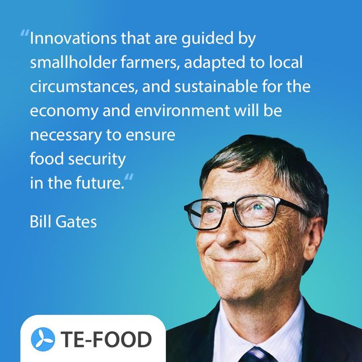 Bill Gates quote about food security