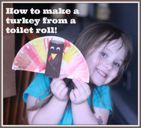 Easy toilet roll turkey craft #thanksgiving use either half paper plate or coffee filter