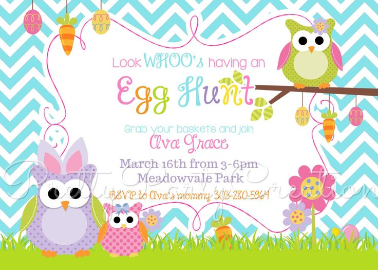 8 best Free Easter Egg Hunt invitations images on Pinterest - easter invitations template