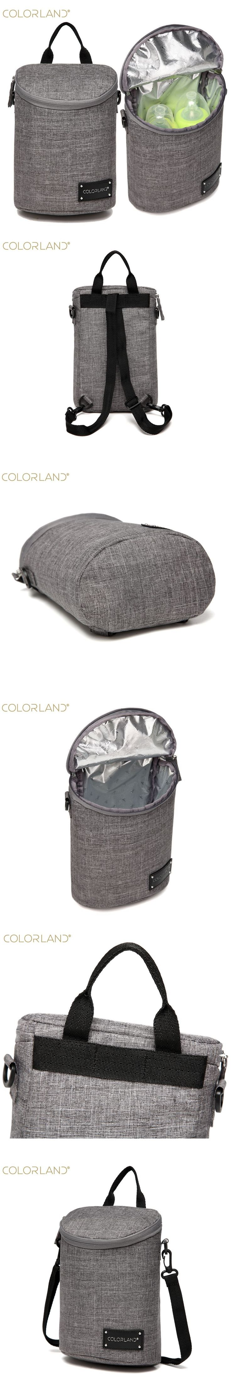 COLORLAND Infant Bolsa Termica Insulation Thermos Lunch Bags Mamadeira Waterproof Baby Bottle Holder Food Storage Tote bag Hobos