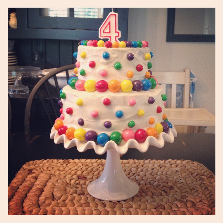 Gum Ball Birthday Cake, A Tradition In Our Home.