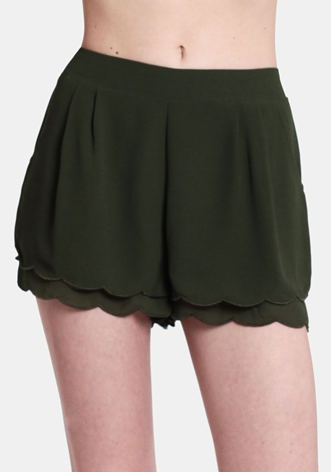 I'm All In Scalloped Shorts | wishlist