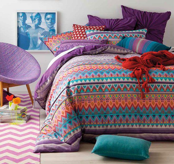 Beautiful Purple Linen House Akeen Quilt Set   <3