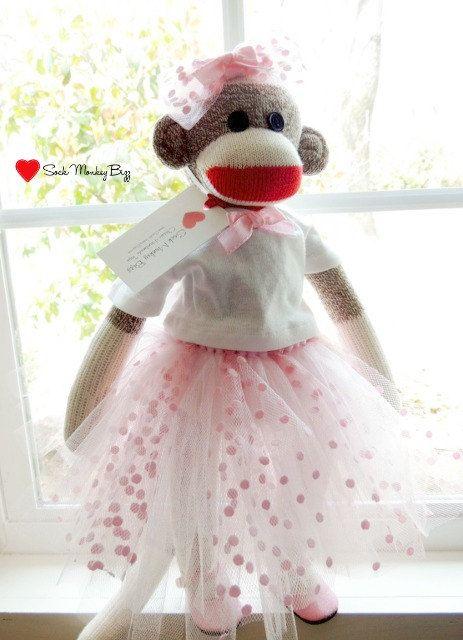 Ballerina Doll Sock Monkey Ballet Doll by SockMonkeyBizz on Etsy, $55.00