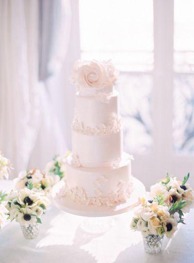 Pretty cake: http://www.stylemepretty.com/little-black-book-blog/2015/03/24/organic-elegant-paris-wedding-inspiration/   Photography: Le Secret D'Audrey - http://www.lesecretdaudrey.com/