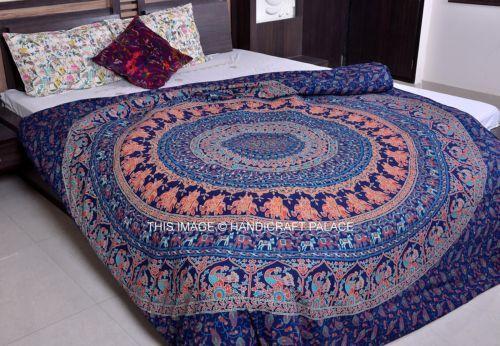 Elephant-Mandala-Handmade-Duvet-Covers-Indian-Throw-Quilt-Cover-Bedding-Decor