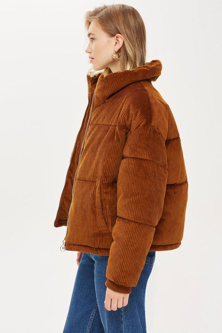 Chunky Corduroy Puffer Jacket in 2020 | Cute jackets ...