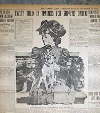 1906 Denver Newspaper Page - Evelyn Nesbit Thaw in Training For Supreme Ordeal