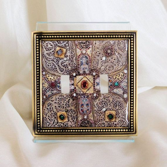 Medieval Cross Double Toggle Light Switch Cover, Cross Light Switch Plate, Christian Switchplate, Inspired Historical Religious Light Switch #DoubleToggle #CrossLightSwitch #Christian #Inspired #Historical #Religious #ChristianDecor #MedievalCross #ReligiousDecor #LightSwitchCover