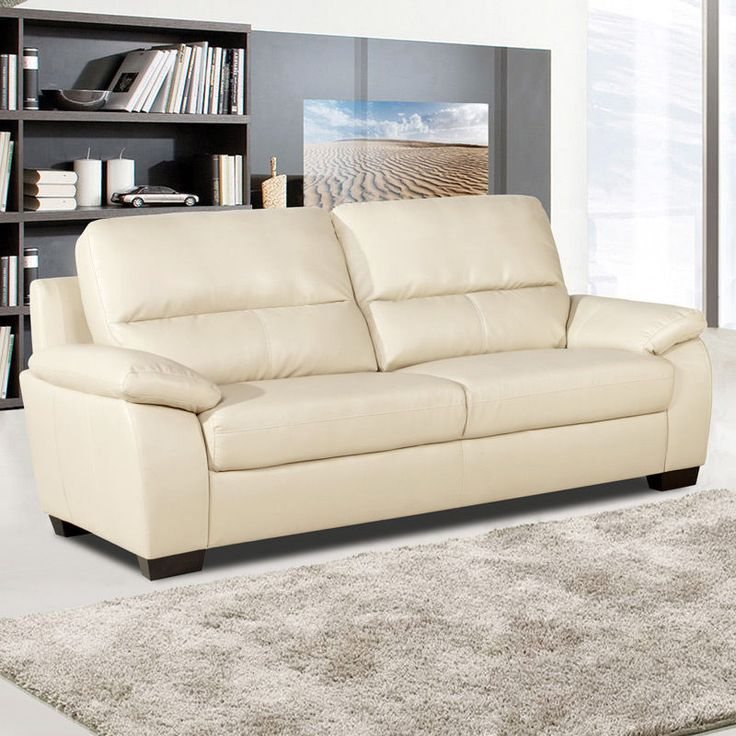 Shop Bryce White Italian Leather Sofa And Two Chairs: 1000+ Ideas About Cream Leather Sofa On Pinterest
