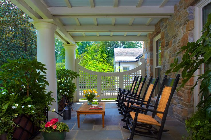 lattice-fence-panels-Porch-Traditional-with-column-covered-patio-garden-seating-plants-Porch