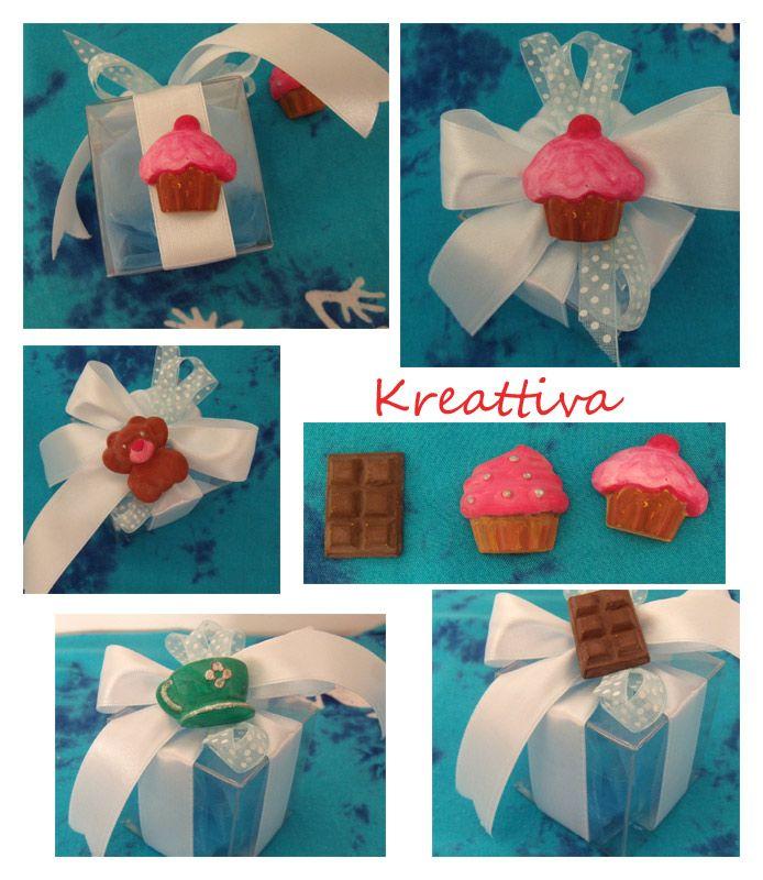 Kreattiva: Cupcake di polvere di ceramica  #tutorial cupcake http://kreattiva.blogspot.it/2014/03/bomboniera-con-polvere-di-ceramica.html - video http://youtu.be/KcIMEqavhB4