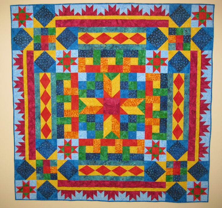 My AQS Block Buffet Mystery Quilt, finished January 2012.