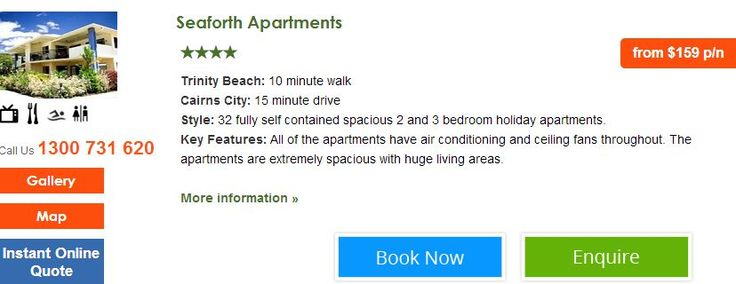 Seaforth Apartments Book now http://www.fnqapartments.com/accom-seaforth-apartments/