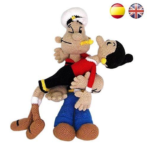 Patrones Popeye y Olivia