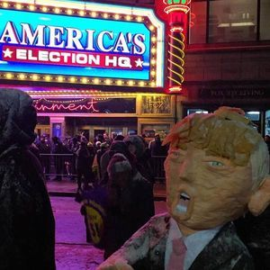 Hundreds protest outside of GOP Debate at Fox Theatre