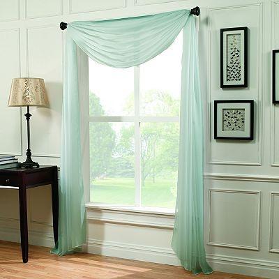 Home Classics Voile Window Scarf   59u0027u0027 ...