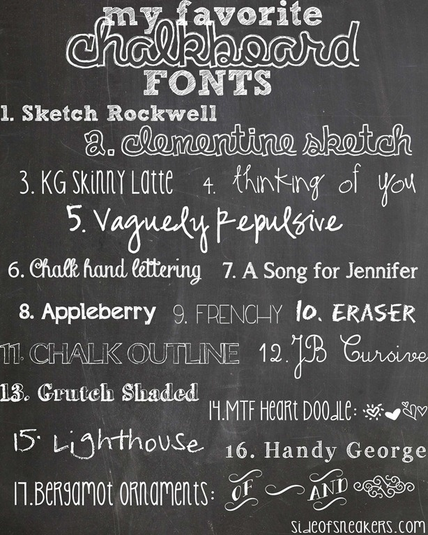 I already added these free Chalkboard fonts to my computer.