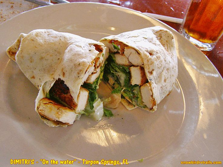 A Huge Blackened Chicken Caesar Wrap At Dimitriu0027s Greek Restaurant On The  Waterfront In Tarpon Springs