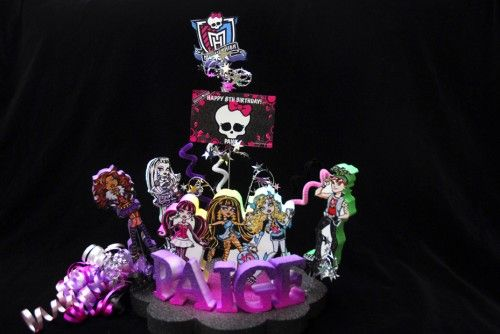 MONSTER HIGH BIRTHDAY CAKE TOPPER | Adianezh - Seasonal on ArtFire
