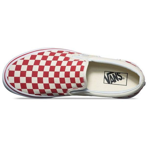 Vans Primary Check Slip-On ($55) ❤ liked on Polyvore featuring men's fashion, men's shoes, mens slip on shoes, mens rubber slip on shoes, mens slipon shoes, mens rubber shoes and vans mens shoes