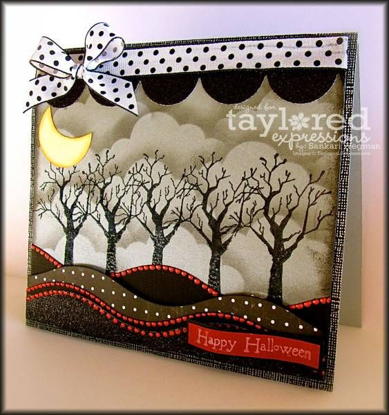 Cool Halloween card by sunnysankari at splitcoast stampers