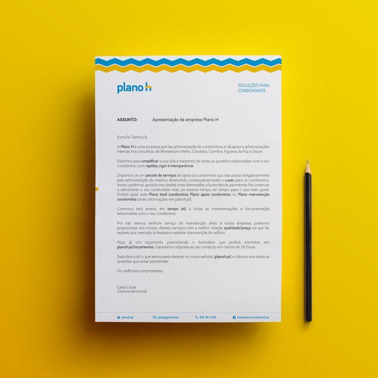 A4 letter mockup for Planoh