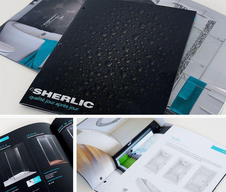 Sherlic : En 2012, le manufacturier de baignoires Sherlic repense complètement son catalogue de produits. Distribué au Québec et en Ontario, le catalogue est remis aux consommateurs chez les distributeurs.     La direction artistique adopte un concept en photo tout adapté aux produits d'acrylique blanc. Les photos sont d'ailleurs prises dans les studios de MSCom. Et la production imprimée, bilingue, en est également assurée.