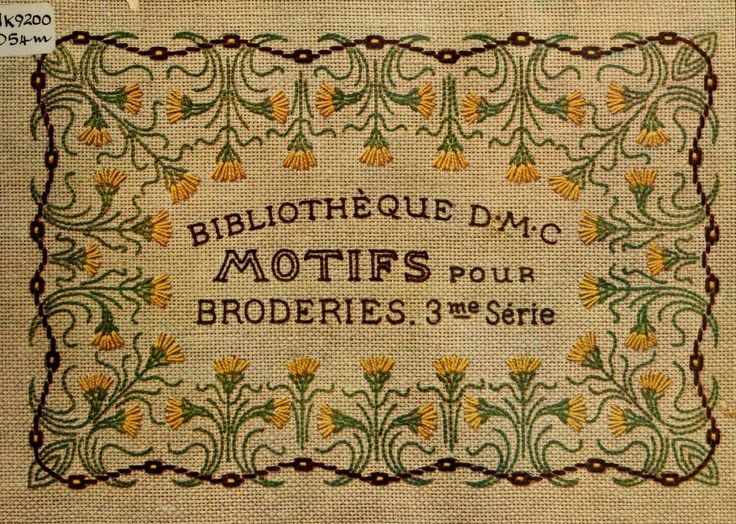 Motifs pour broderies. (IIIme série)