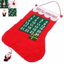 Новый рождественский дед мороз запаша календарь баннер обратного отсчета рождество декор(China (Mainland))
