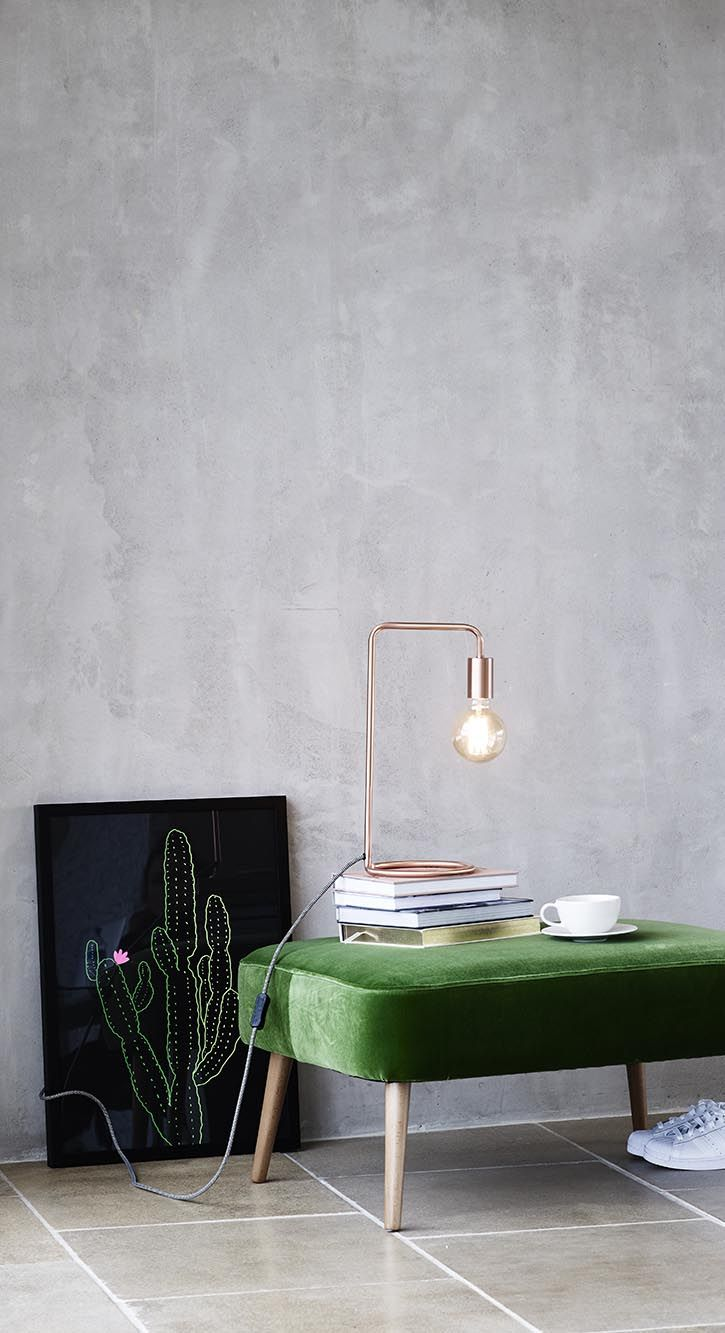Introduce directional lighting to your home with the Copper Celio Table Lamp.