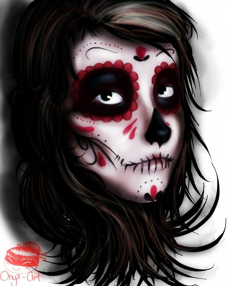 traditional dia de los muertos makeup - Google Search