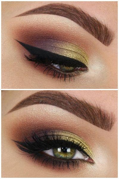 Tania Waller Instagram Look -MAC Soft Ochre paint pot. -Kat Von D Serpentina Palette. -Tarte clay pot gel liner in black.