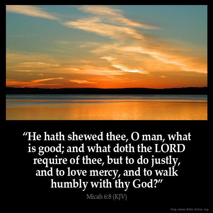 Micah 6:8 Inspirational Image
