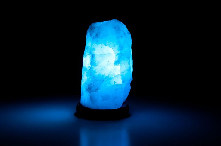 Salt Lamps Blue : Natural White Salt Lamp 7-9lbs (Blue Medium)