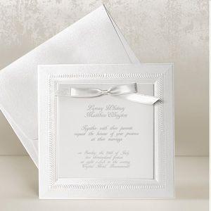 Marvelous White Wedding Invitations UK   White Tiffany Vintage Invitation Cards