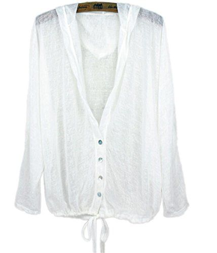Qinsun Korean Summer Short Paragraph Sun Protection Clothing with Buttons * Check out this great product.