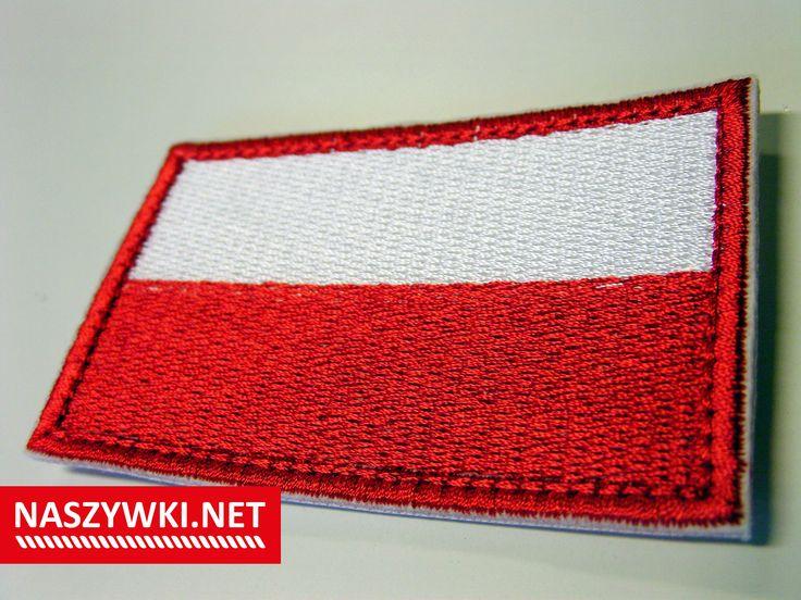 naszywka haftowana z podszyciem rzepem  #flagapolski #Polska #flaga #patriotyzm