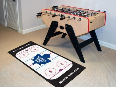 Toronto Maple Leafs Rink Runner by Fanmats. $39.27. Toronto Maple Leafs Rink RunnerFor all those hockey fans out there: hockey rink-shaped area rugs by FANMATS. Made in U.S.A. 100% nylon carpet and non-skid recycled vinyl backing. Machine washable. Officially licensed. Chromojet printed in true team colors. Please note: These products are custom made. The normal lead time is about 7-10 business days. However, the putting mats and carpet tiles do take a little longer, about 14-21...