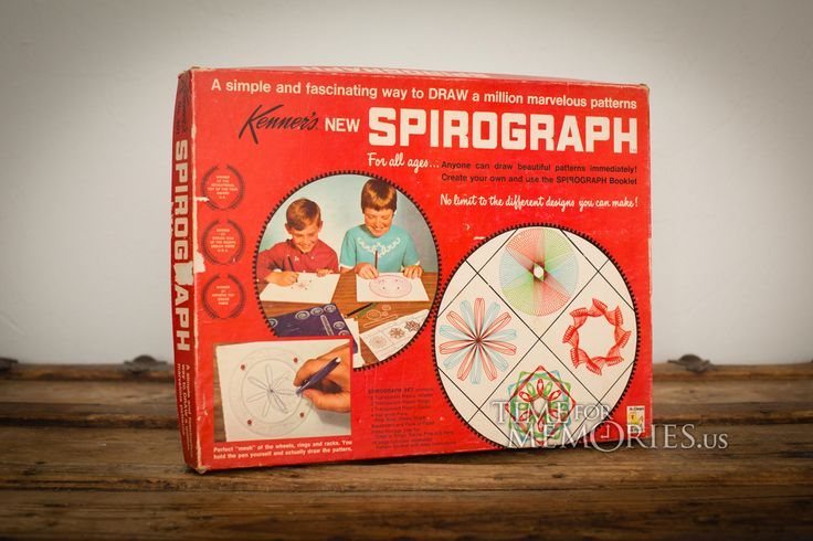 For sale here is a vintage 60s Spirograph art set No. 401 drawing kit from Kenner; ©1967. It is near complete with original box and more.