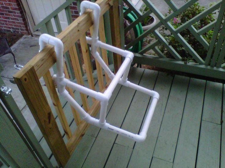 beginnings of boat ladder for dog