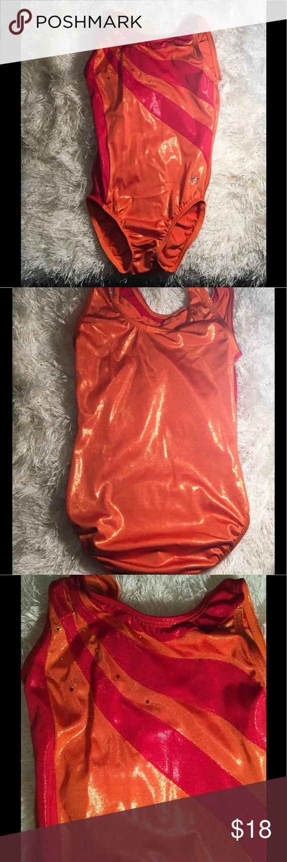 Girls Leotard Child's Large Snowflake leotard   Orange with red accents. Snowflake Other