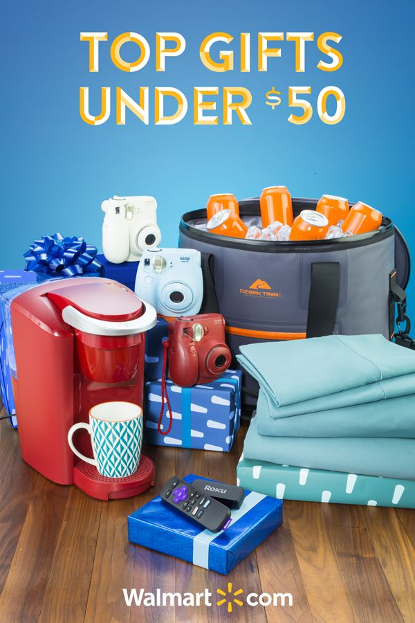 Find something for everyone on your list this year with this array of affordable gift ideas from Walmart. Shop today. Top Gifts under $50 include: Fujifilm Instax Mini 7s, Ozark Trail Premium Jumbo Tote Cooler, Roku Express +, Hotel Style 600 Thread Count Sheet Sets and Keurig K-Compact Coffee Maker.
